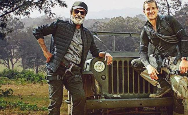 Rajinikanth And Grylls Into The Wild With Bear Got Second Highest Ratings - Sakshi
