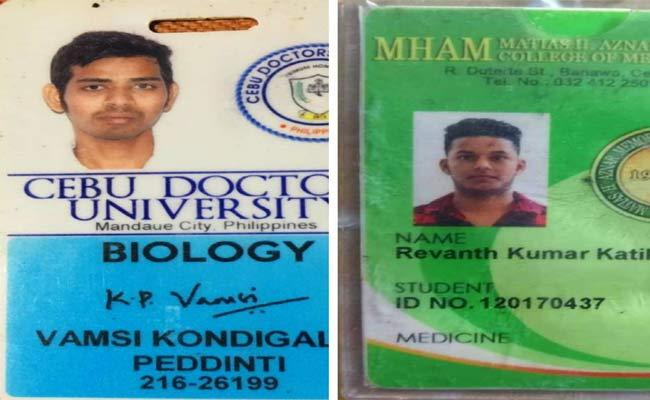 Two AP Students Lost In Road Accident At Philippine - Sakshi