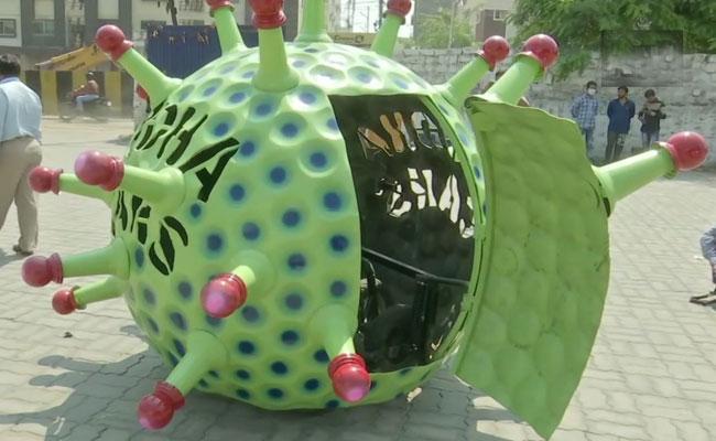Sudha Cars Museum Unveils Coronavirus Themed Car - Sakshi