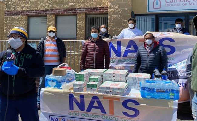 NATS Distribution Of Food And Aid To The Homeless In New Jersy - Sakshi