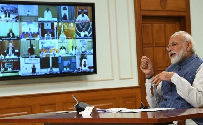 PM Narendra Modi Today Talk With Chief Ministers In Video Conference - Sakshi
