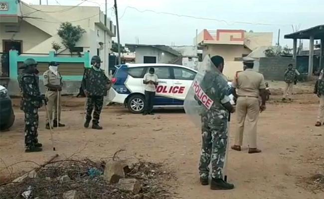 Curfew Ongoing In Bhainsa At Nirmal District - Sakshi