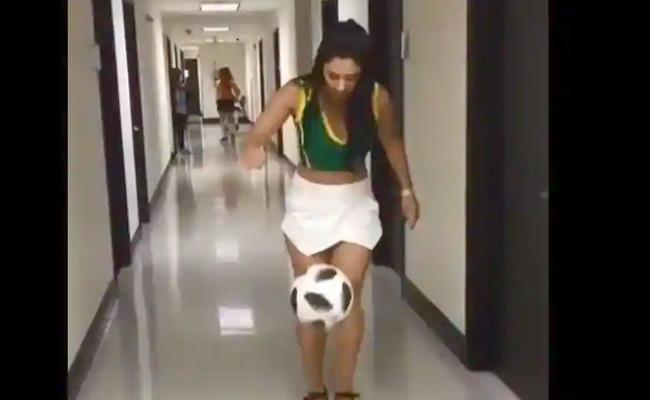 Woman Amazing Freestyle Football Skills In Heels Went Viral - Sakshi