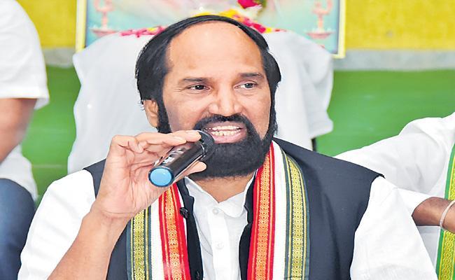 Tpcc Uttam Kumar Reddy Questions KCR About Pothireddypadu - Sakshi
