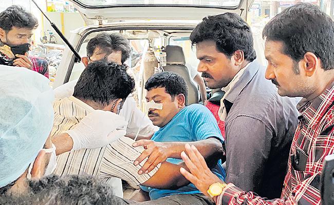 Mandapeta Janasena Leader Attacked on YSRCP Worker - Sakshi