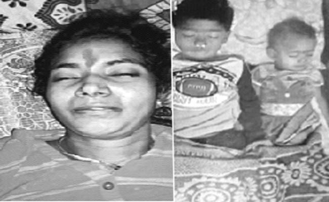 Mother And Her Children Suicide In Piduguralla in Guntur District - Sakshi