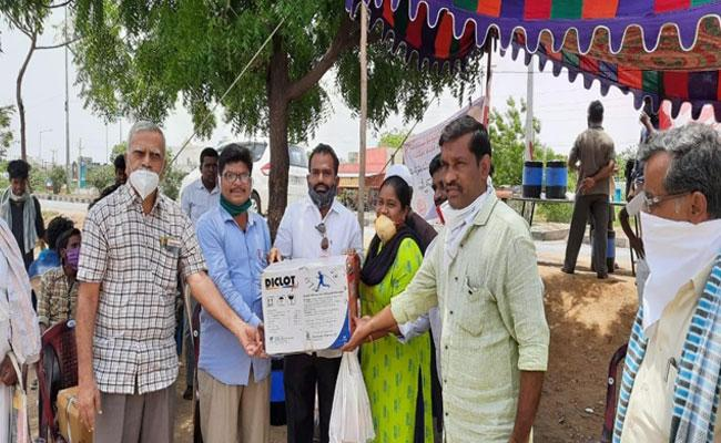 Leon Human Foundation Distributed Medical Kits To Migrants in Anantapur - Sakshi