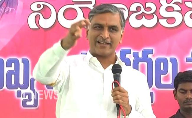 Minister Harish Rao Talks In Press Meet At Sangareddy - Sakshi