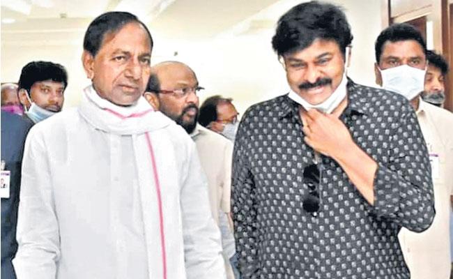 Telugu Film Industry Representatives Meet With CM KCR  - Sakshi