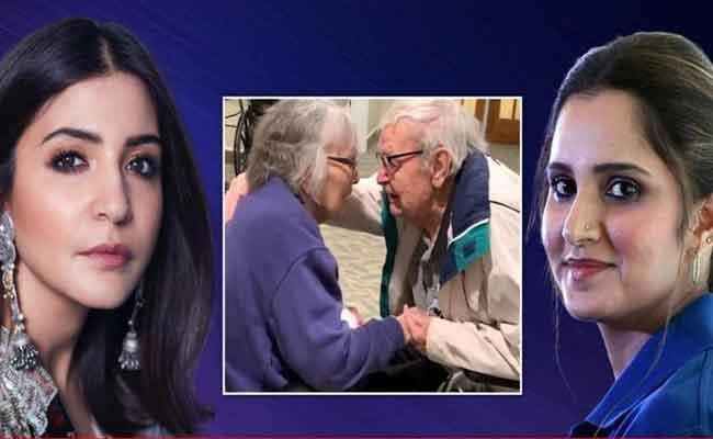 Aged Couple Meet Months After Anushka Sharma Sania Mirza React - Sakshi
