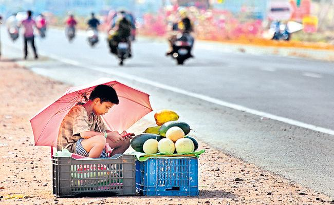 Temperatures are 2 to 4 degrees above normal in many areas in AP - Sakshi