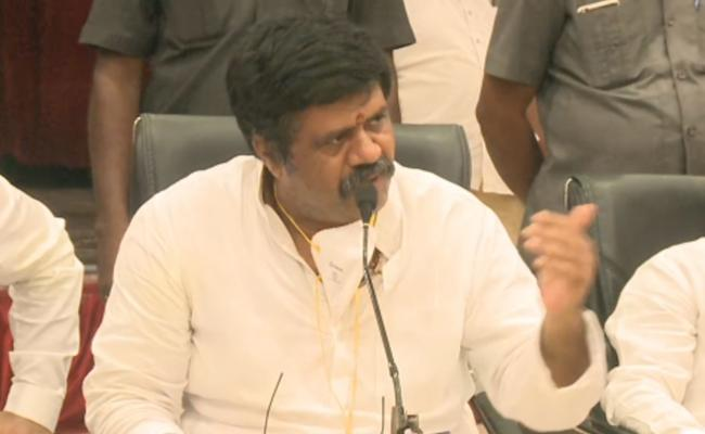 Avanthi Srinivas Talks In Press Meet At Visakhapatnam - Sakshi