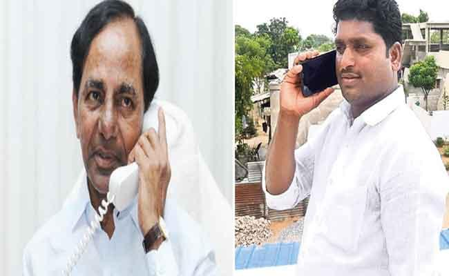 CM KCR Phone Call To Markook Village Sarpanch - Sakshi