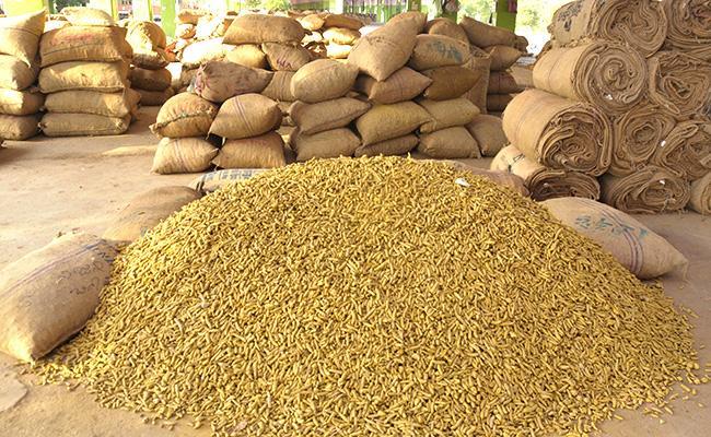 Turmeric Purchase Started In Nizamabad Market - Sakshi