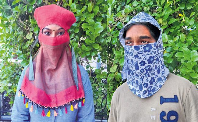 Matching Face Mask Designs From Hemanth Sree Fashions - Sakshi