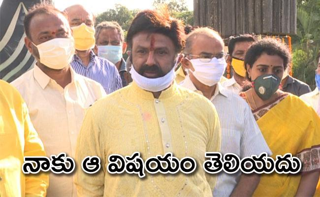 Nandamuri Balakrishna Interesting comments Over Cinema Industry Meeting With KCR - Sakshi