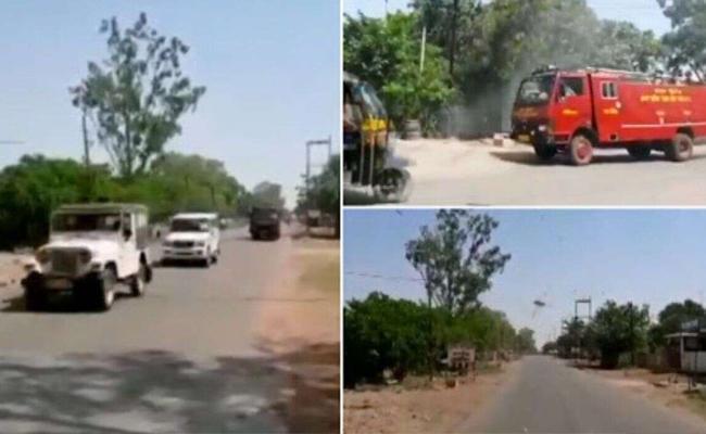 Police Siren To Scare Away Locust Swarms In Panna at Madhya Pradesh - Sakshi