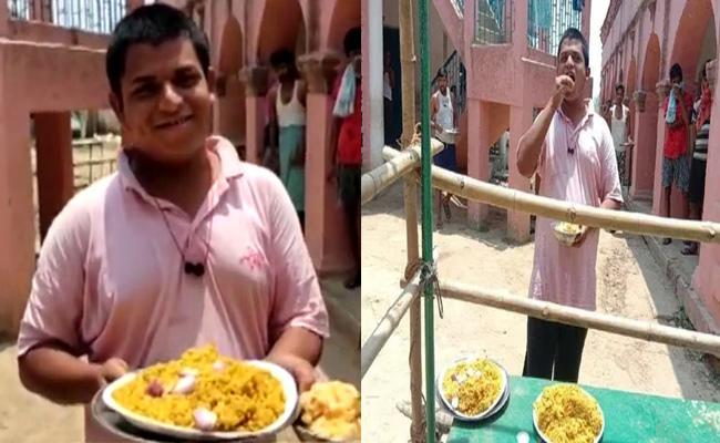 Bihar Man Meal At Quarantine Centre 40 Chapatis 10 Plates of Rice - Sakshi