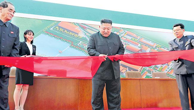 North Korea supreme leader Kim Jong-un opens fertiliser factory - Sakshi