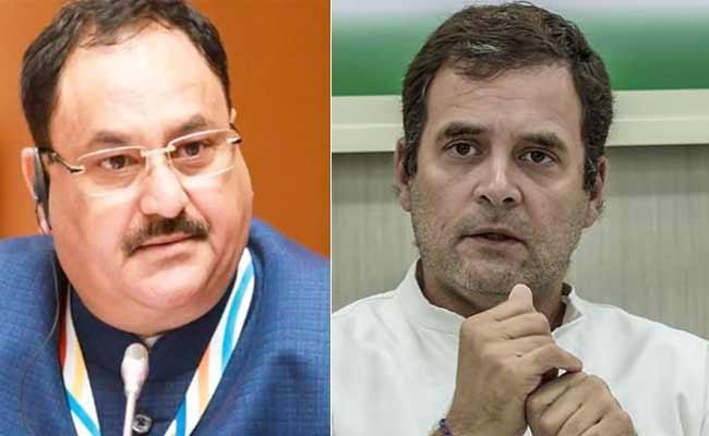 JP Nadda Slams Rahul Gandhi Comments On Lockdown - Sakshi