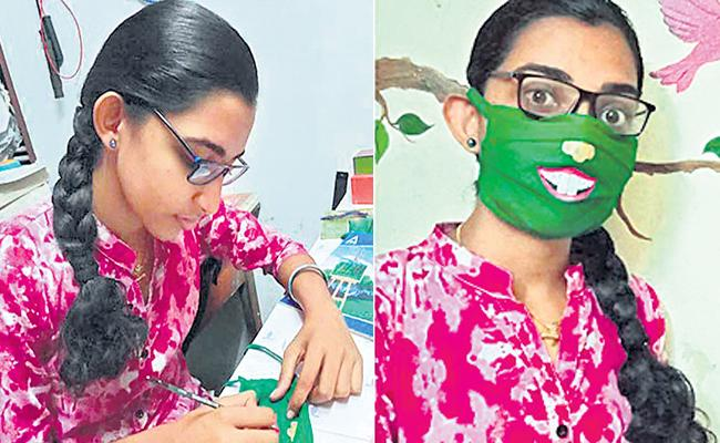 Special Story About Painting Masks By Sharanya From Kerala - Sakshi