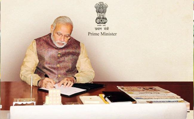Prime Minister Letter On Completion Of One Year Government At Centre - Sakshi