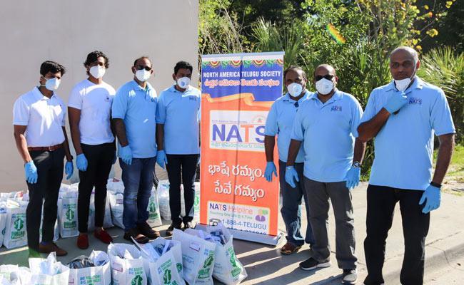 NATS Donates Food items to needy in Tampa Bay - Sakshi