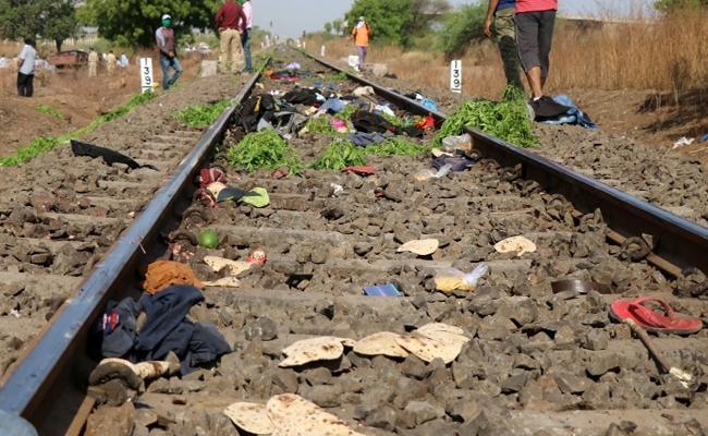 Train Crushes 17 Migrant Workers At Aurangabad In Maharashtra - Sakshi