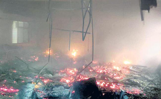 Fire Accident At Basara IIIT - Sakshi