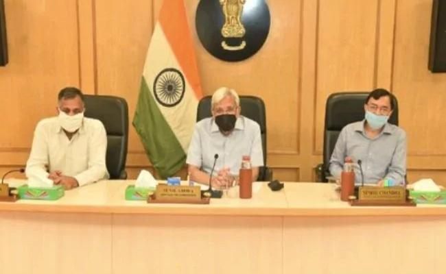 Election Commission First Physical Meet In Nearly 3 Months - Sakshi