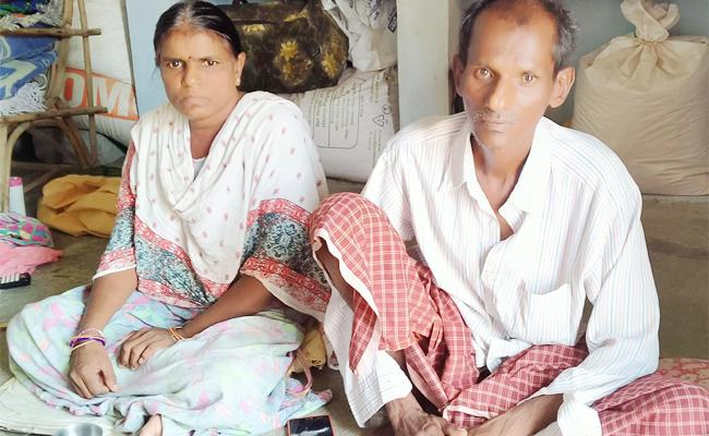 Couple Suffering With Illness And Waiting For Help in Jangaon - Sakshi