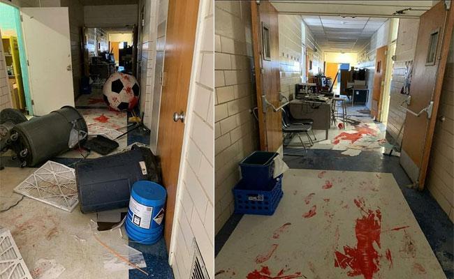 3 Children Arrested For Damaging School In Oklahoma - Sakshi