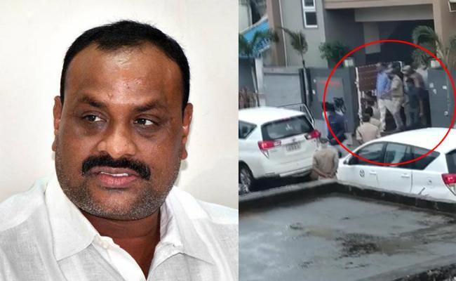 TDP MLA Atchannaidu Arrest In Tekkali - Sakshi