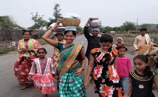 Mehathuk Festival Start in Adilabad Tribal Villages - Sakshi