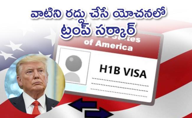 Donald Trump may suspend H-1B visas: Report - Sakshi