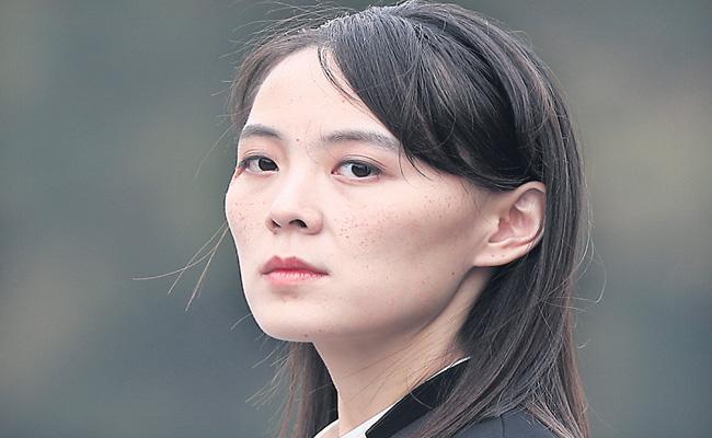 Kim Jong Un sister threatens military action against South Korea - Sakshi