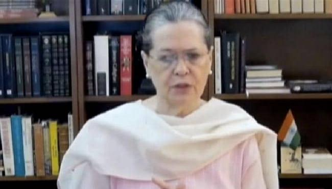 Sonia Gandhi At All Party Meet On Ladakh Clash - Sakshi