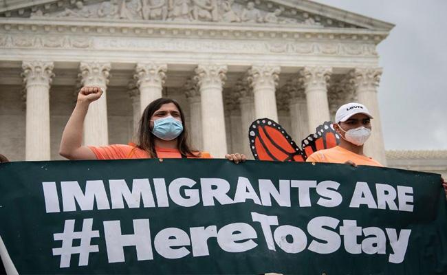 Supreme court blocks Trump from cancelling Daca immigration program - Sakshi