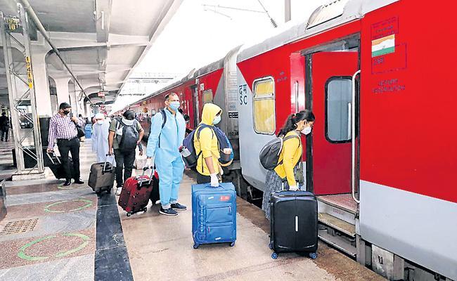 Regular train services was resumed - Sakshi