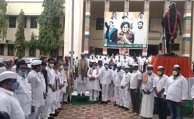 Uttam Kumar Reddy Slams TRS Over State Formation Day - Sakshi