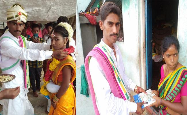 Into Volunteer Duties Within Three Hours Of Getting Married - Sakshi