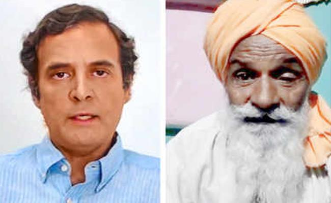 Father Of Soldier Says To Rahul Gandhi That  Dont Politicise This - Sakshi