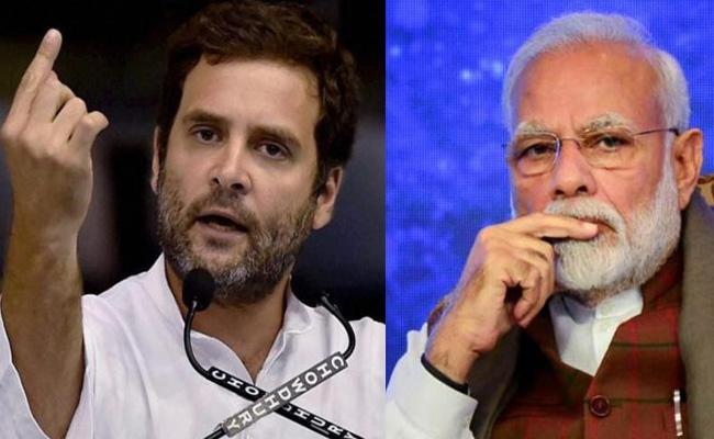Rahul Gandhi accuses Narendra Modi of surrendering to China - Sakshi