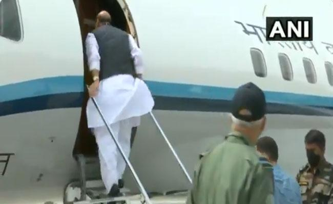 Rajnath Singh Departs For Moscow on 3 Day Visit - Sakshi