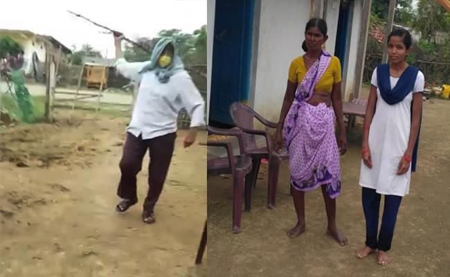 Man Attack on Army Jawan Mother in Adilabad - Sakshi