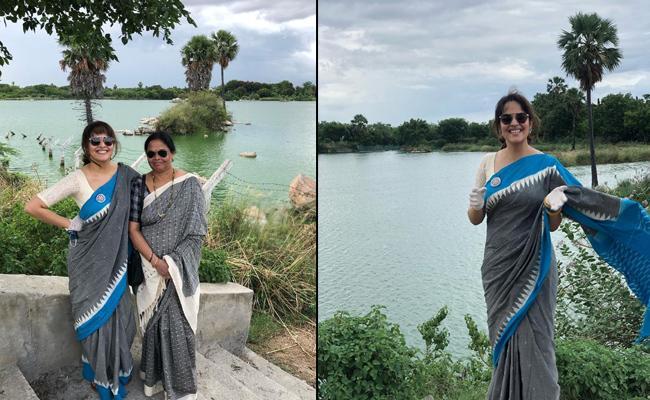 Anchor Anasuya Shares Bhoodan Pochampally Visit photos - Sakshi