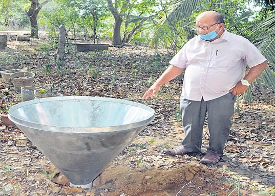 UNIQUE RAIN WATER HARVESTING METHOD - Sakshi