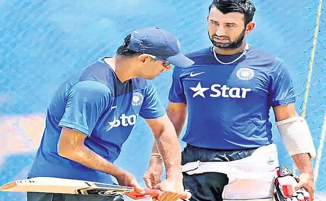 I Have Learned So Many Things From Rahul Dravid Says Pujara - Sakshi
