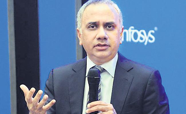 Infosys CEO Salil Parekh Income 34.27 Crore - Sakshi