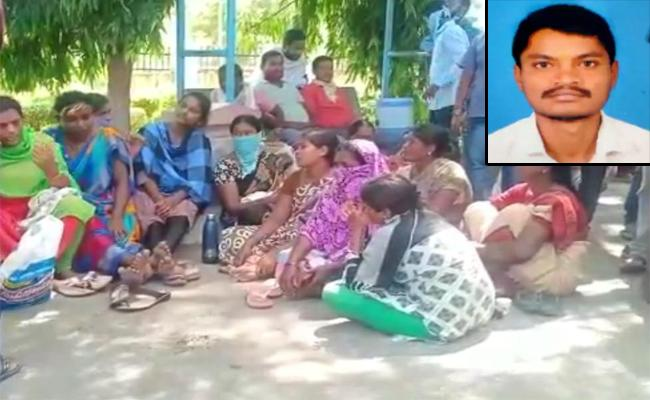 Kin of workers who died in Opencast accident demands for Justice - Sakshi